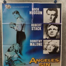 Cine: ÁNGELES SIN BRILLO. ROCK HUDSON, ROBERT STACK, DOROTHY MALONE POSTER ORIGINAL. Lote 184912015