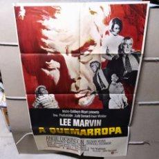 Cine: A QUEMARROPA LEE MARVIN POSTER ORIGINAL 70X100 YY (2205)ESTRENO. Lote 184934357