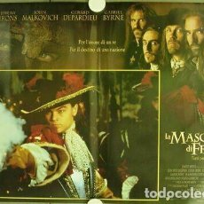 Cine: DE74D MAN IN THE IRON MASK LEONARDO DICAPRIO SET COMPLETO 8 POSTER ORIGINAL 47X68. Lote 185265452