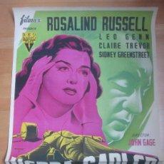 Cine: CARTEL CINE HEDDA GABLER ROSALIND RUSSELL LEO GENN FREXES C1683. Lote 185707798