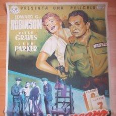 Cine: CARTEL CINE MARTES NEGRO EDWARD G. ROBINSON PETER GRAVES ALE LITOGRAFIA C1685. Lote 185708545