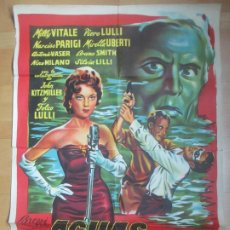 Cine: CARTEL CINE AGUAS AMARGAS MILLY VITALE PIERO LULLI C1686. Lote 185708977