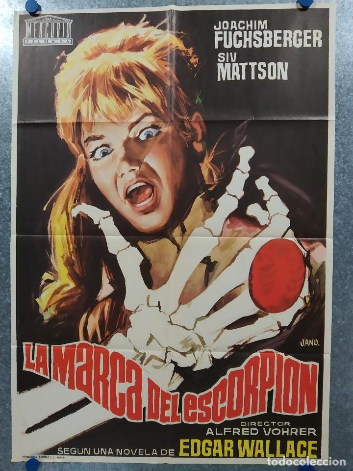 LA MARCA DEL ESCORPION. JOACHIM FUCHSBERGER, SIV MATTSON, EDGAR WALLACE. AÑO 1972 POSTER ORIGINAL (Cine - Posters y Carteles - Terror)