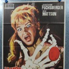 Cine: LA MARCA DEL ESCORPION. JOACHIM FUCHSBERGER, SIV MATTSON, EDGAR WALLACE. AÑO 1972 POSTER ORIGINAL. Lote 185716293