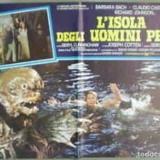 Cine: UX84D LA ISLA DE LOS HOMBRES PECES SERGIO MARTINO BARBARA BACH SET 3 POSTER ORIGINAL 47X68. Lote 185720470