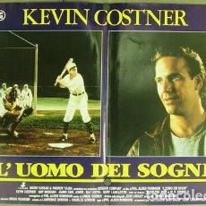 Cine: DD69D CAMPO DE SUEÑOS KEVIN COSTER BEISBOL BASEBALL SET COMPLETO 6 POSTERS ORIGINAL ITALIANO 47X68. Lote 185730321