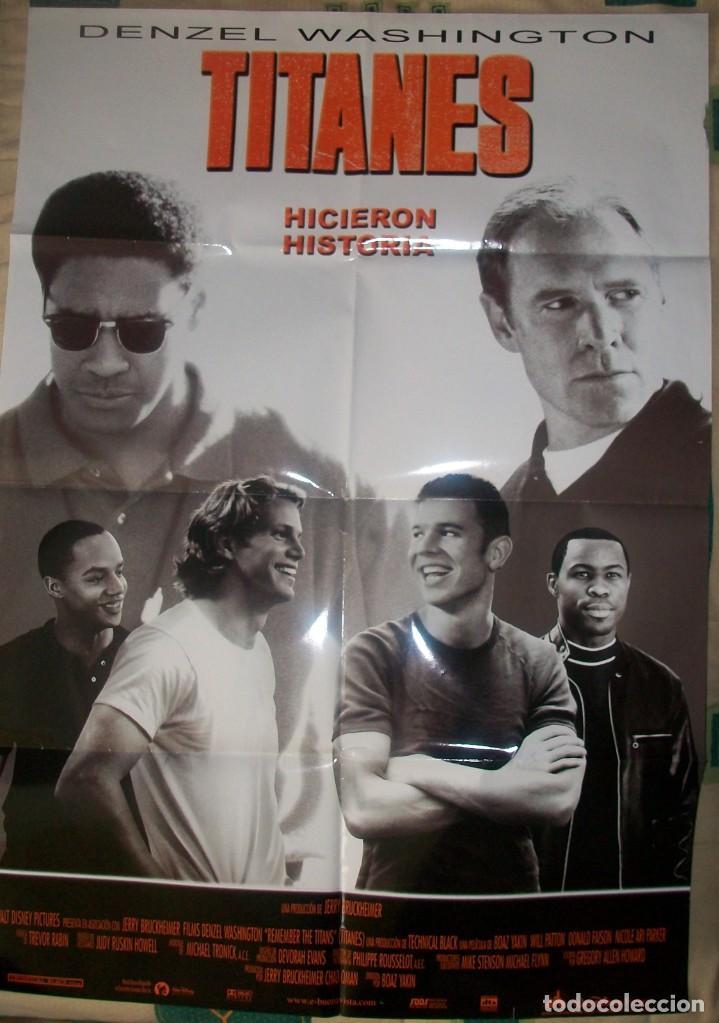 CINE. CARTEL ORIGINAL DE LA PELÍCULA TITANES, HICIERON HISTORIA (2000). CON DENZEL WASHINGTON (Cine - Posters y Carteles - Suspense)