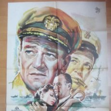 Cine: CARTEL CINE ESCRITO BAJO EL SOL JOHN WAYNE MAUREEN O´HARA MAC 1963 C1695. Lote 185887635