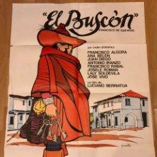 Cine: CARTEL O POSTER DE EL BUSCON DE QUEVEDO.ANA BELEN JUAN DIEGO FRANCISCO RABAL.LUCIANO BERRIATUA 1976. Lote 185888583