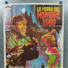 Cine: LA FURIA DEL HOMBRE LOBO. PAUL NASCHY, PERLA CRISTAL, MICHAEL RIVERS AÑO 1975. POSTER ORIGINAL. Lote 185895587