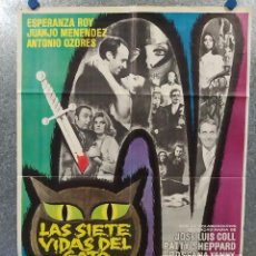 Cine: LAS SIETE VIDAS DEL GATO. ESPERANZA ROY, JUANJO MENÉNDEZ, ANTONIO OZORES AÑO 1970. POSTER ORIGINAL. Lote 185900251