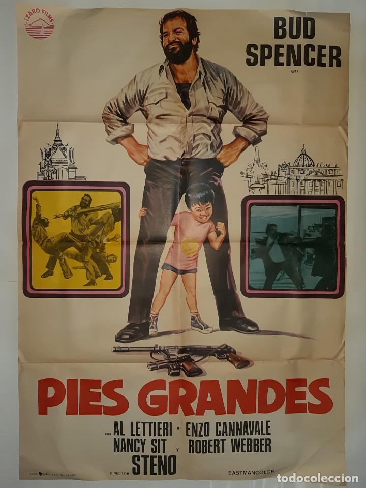 CARTEL CINE PIES GRANDES BUD SPENCER HP GRAFICO 1976 C375 (Cine - Posters y Carteles - Comedia)