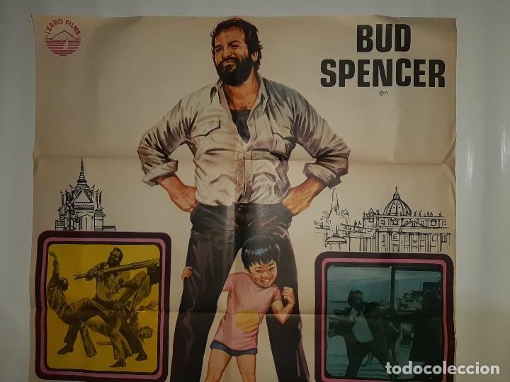 Cine: CARTEL CINE PIES GRANDES BUD SPENCER HP GRAFICO 1976 C375 - Foto 2 - 185937322