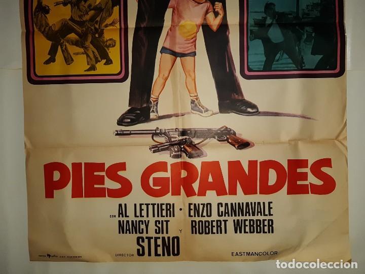 Cine: CARTEL CINE PIES GRANDES BUD SPENCER HP GRAFICO 1976 C375 - Foto 3 - 185937322
