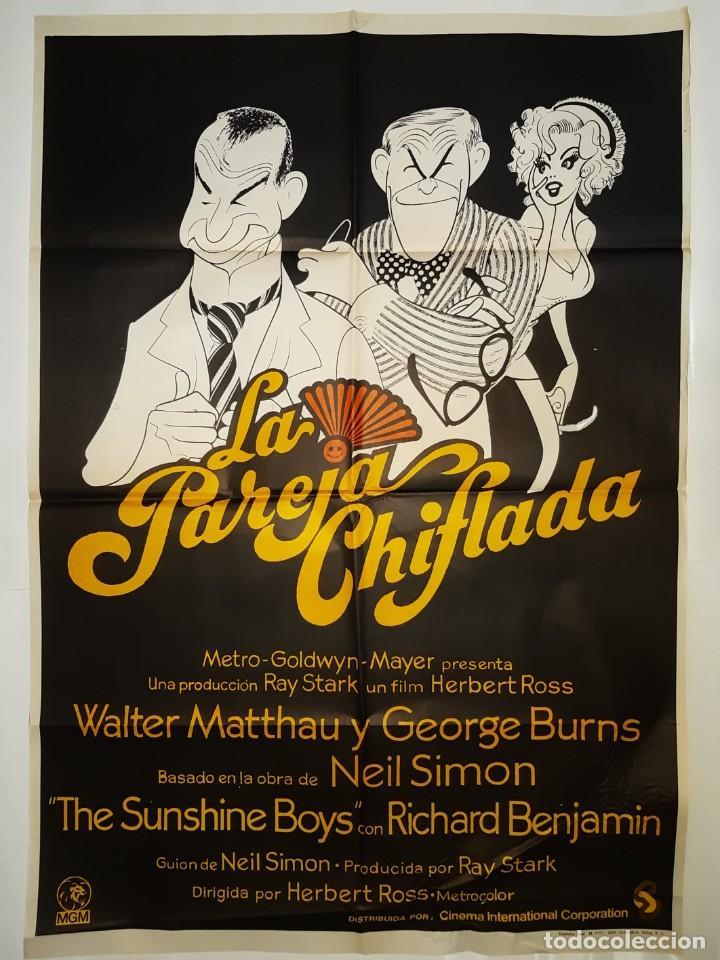 CARTEL CINE LA PAREJA CHIFLADA WALTER MATTHAU 1976 C378 (Cine - Posters y Carteles - Comedia)