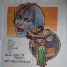 Cine: CARTEL CINE ALICIA YA NO VIVE AQUI ELLEN BURSTYN PREMIADA CON OSCAR 1976 C392. Lote 185999807