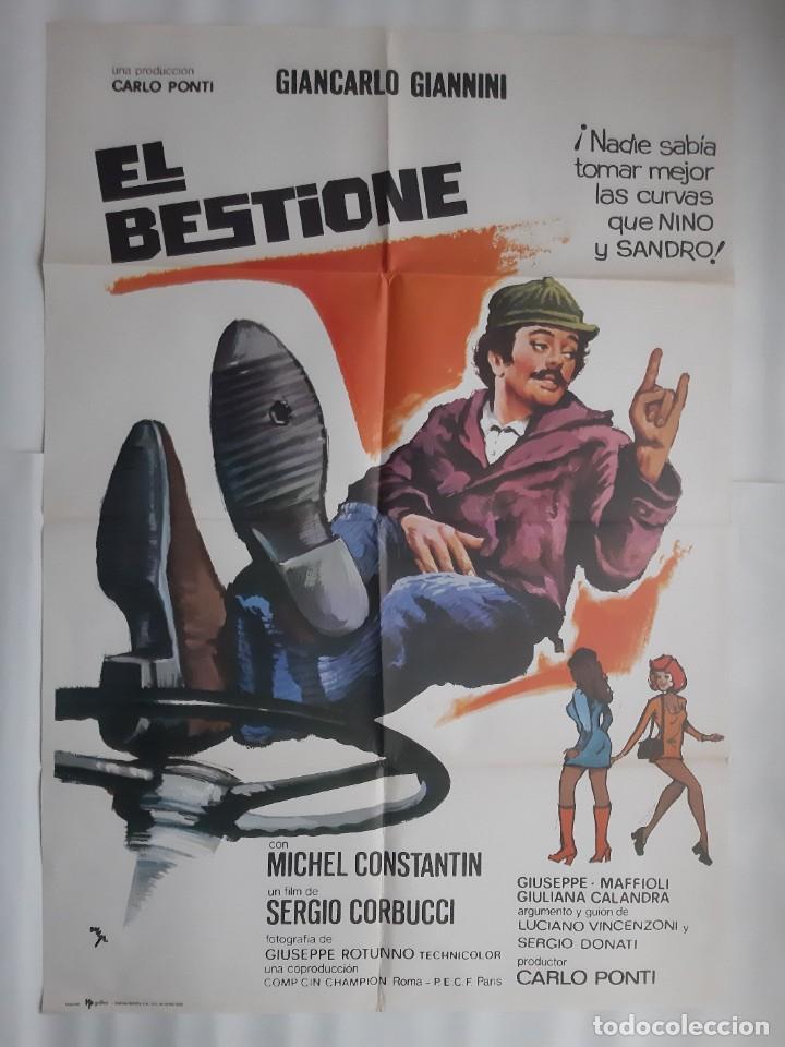 CARTEL CINE EL BESTIONE MICHEL CONSTANTIN PRODUCTOR CARLO PONTI 1975 HP C400 (Cine - Posters y Carteles - Comedia)