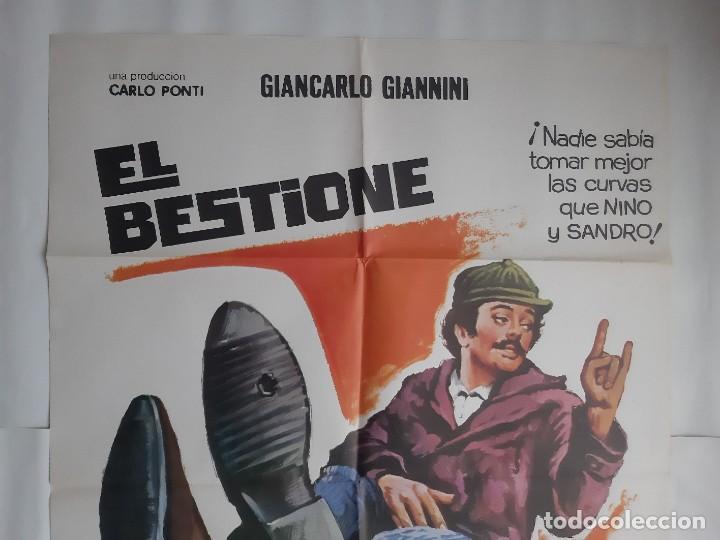 Cine: CARTEL CINE EL BESTIONE MICHEL CONSTANTIN PRODUCTOR CARLO PONTI 1975 HP C400 - Foto 2 - 186008390