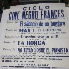Cine: CARTEL CICLO CINE NEGRO FRANCES CINE CLUB HANNIBAL DE CARTAGENA. Lote 186008450