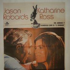 Cine: CARTEL CINE SOLOS JASON ROBARDS KATHARINE ROSS 1971 C401. Lote 186010677