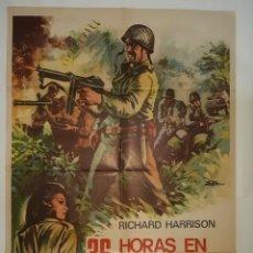 Cinema: CARTEL CINE 36 HORAS EN EL INFIERNO RICHARD HARRISON 1972 ILUSTRA ESC C405. Lote 186029858