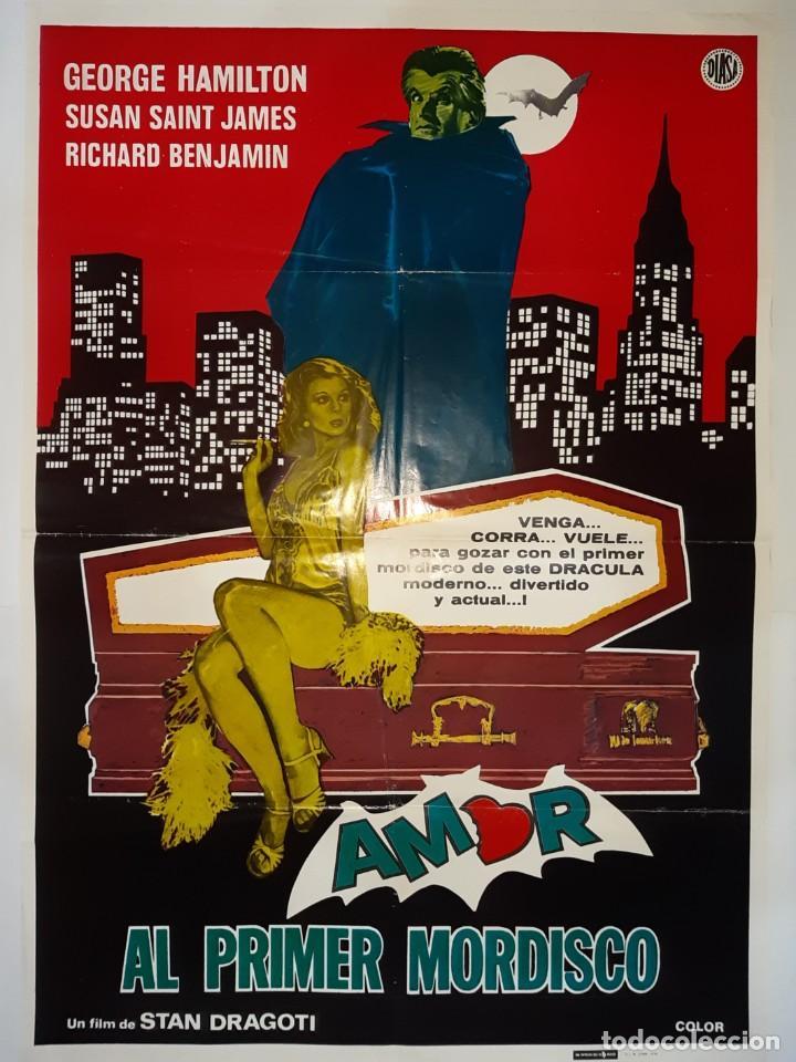 CARTEL CINE, AMOR AL PRIMER NMORDISCO GEORGE HAMILTON 1979 C 419 (Cine - Posters y Carteles - Comedia)