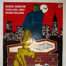 Cine: CARTEL CINE, AMOR AL PRIMER NMORDISCO GEORGE HAMILTON 1979 C 419. Lote 186111033