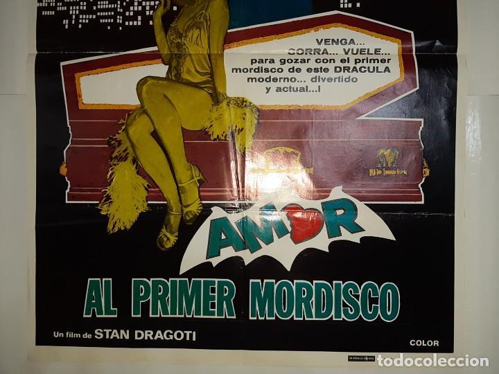 Cine: CARTEL CINE, AMOR AL PRIMER NMORDISCO GEORGE HAMILTON 1979 C 419 - Foto 3 - 186111033