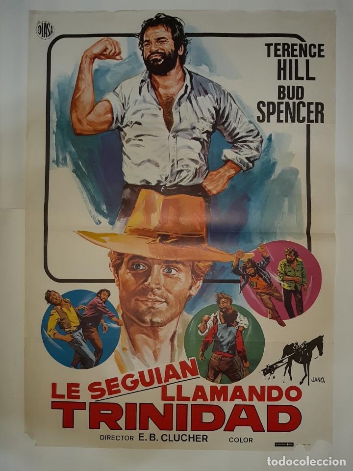 CARTEL CINE,LE SEGUIAN LLAMANDO TRINIDAD1980 JANO C423 (Cine - Posters y Carteles - Comedia)