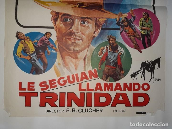 Cine: CARTEL CINE,LE SEGUIAN LLAMANDO TRINIDAD1980 JANO C423 - Foto 3 - 186112638