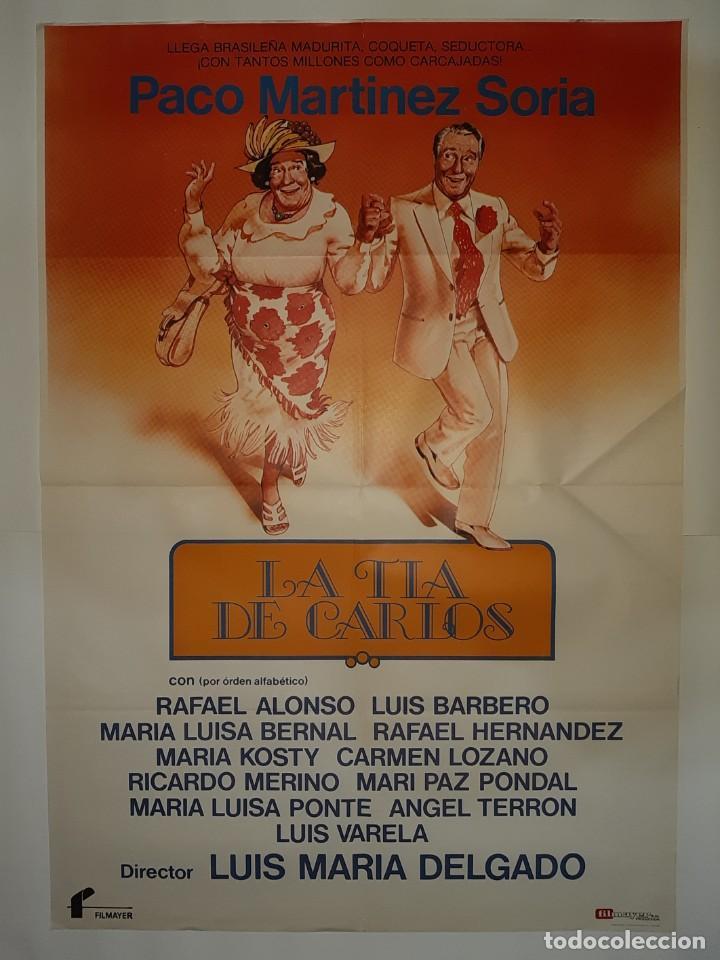 CARTEL CINE LA TIA DE CARLOS PACO MARTINEZ SORIA 1981 C426 (Cine - Posters y Carteles - Comedia)