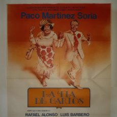 Cine: CARTEL CINE LA TIA DE CARLOS PACO MARTINEZ SORIA 1981 C426. Lote 186113665