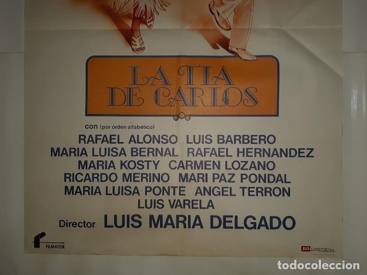Cine: CARTEL CINE LA TIA DE CARLOS PACO MARTINEZ SORIA 1981 C426 - Foto 3 - 186113665