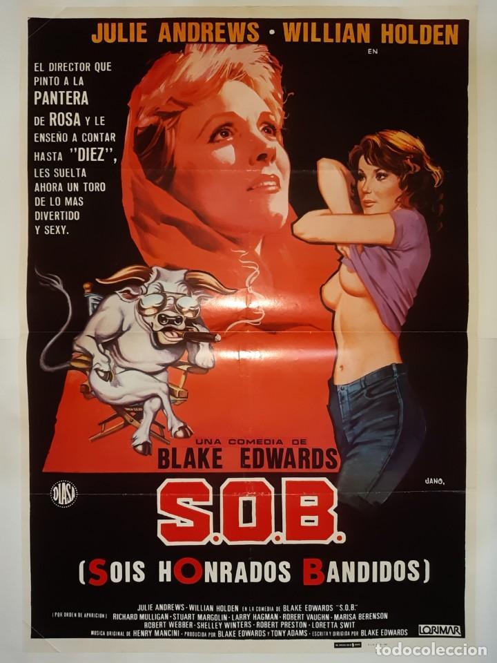 CARTEL CINE S.O.B. JULIE ANDREWS WILLIAN1980 C437 (Cine - Posters y Carteles - Comedia)