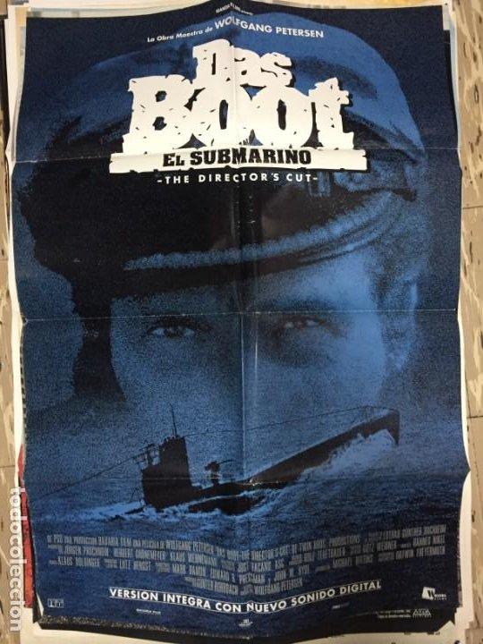 CARTEL ORIGINAL CINE 70 X 100 CM APROX EL SUBMARINO (DAS BOOT) (Cine - Posters y Carteles - Bélicas)