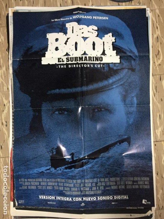 Cine: CARTEL ORIGINAL CINE 70 X 100 CM APROX El submarino (Das Boot) - Foto 2 - 186121057