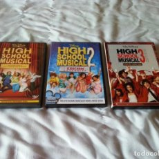 Cine: HIGH SCHOOL MUSICAL 1,2 Y 3 EN DVD. Lote 186157545
