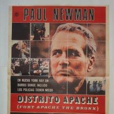 Cine: CARTEL CINE PAUL NEWMAN DISTRITO APACHE 1981 C451. Lote 186190581