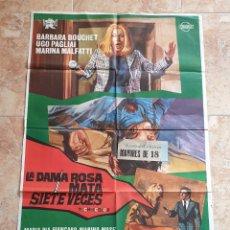 Cine: POSTER ORIGINAL LA DAMA ROSA MATA SIETE VECES. Lote 186227036