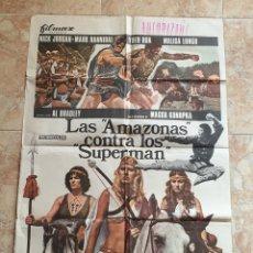 Cine: POSTER ORIGINAL LAS AMAZONAS CONTRA LOS SUPERMAN. Lote 186227292