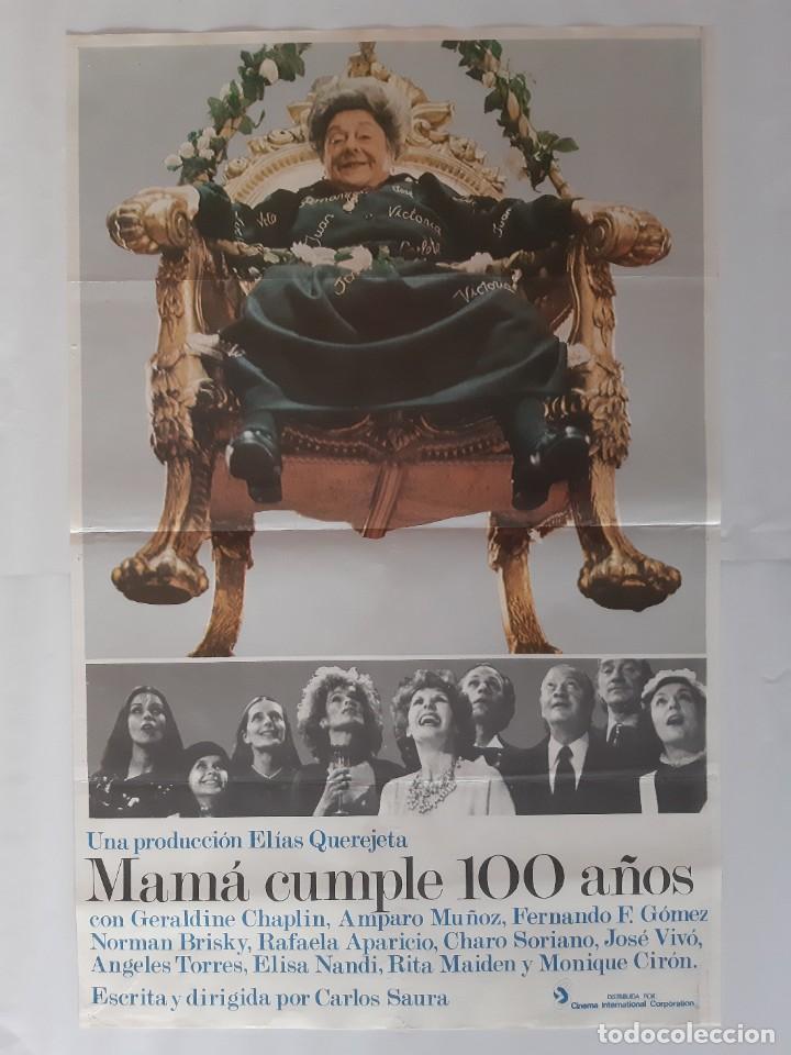 CARTEL CINE MAMA CUMPLE 100 AÑOS CARLOS SAURA C456 (Cine - Posters y Carteles - Comedia)