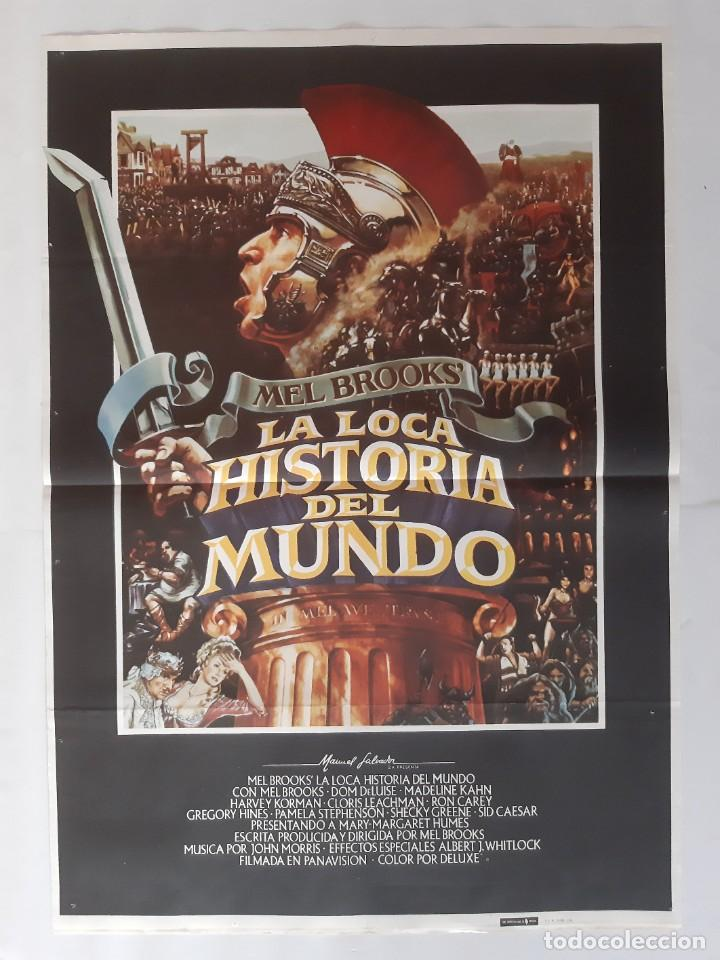 CARTEL CINE MEL BROOKS' LA LOCA HISTORIA DEL MUNDO 1981 C458 (Cine - Posters y Carteles - Comedia)
