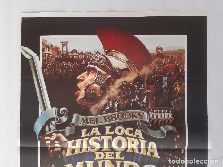 Cine: CARTEL CINE MEL BROOKS' LA LOCA HISTORIA DEL MUNDO 1981 C458 - Foto 2 - 186234132