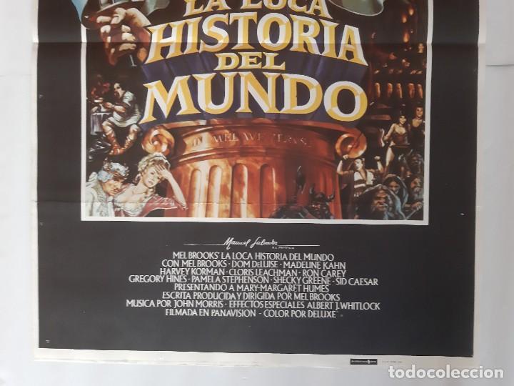 Cine: CARTEL CINE MEL BROOKS' LA LOCA HISTORIA DEL MUNDO 1981 C458 - Foto 3 - 186234132