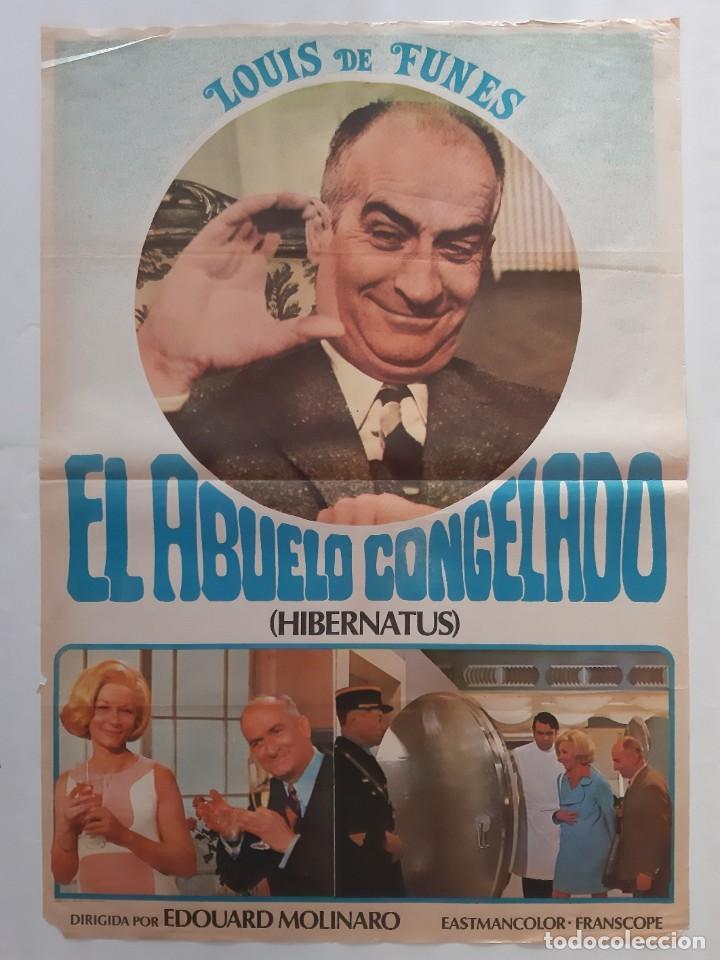CARTEL CINE EL ABUELO CONGELADO LOUIS DE FUNES 1978 C463 (Cine - Posters y Carteles - Comedia)