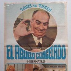 Cinema: CARTEL CINE EL ABUELO CONGELADO LOUIS DE FUNES 1978 C463. Lote 186236403
