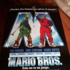 Cine: SUPER MARIO BROS - BOB HOSKINS, JOHN LEGUIZAMO, DENNIS HOPPER - POSTER ORIGINAL AÑO 1993 - MOD 2. Lote 186309698