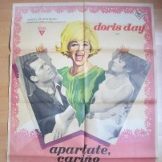 Cine: CARTEL CINE APARTATE CARIÑO DORIS DAY JAMES GARNER MAC 1964 C1698. Lote 186318403