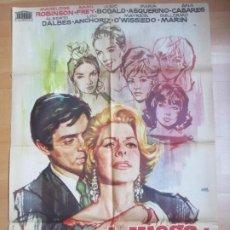 Cine: CARTEL CINE EL JUEGO DE LA VERDAD MADELAINE ROBINSON SAMI FREY JANO 1963 C1699. Lote 186318712