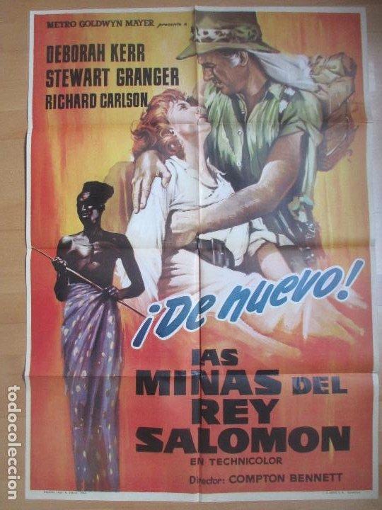CARTEL CINE LAS MINAS DEL REY SALOMON DEBORAH KERR STEWART GRANGER 1963 C1700 (Cine - Posters y Carteles - Aventura)